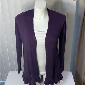 NWT. Karen Scott open cardigan sweater